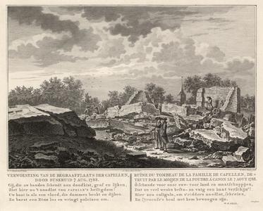 852 -TP000289 Verwoesting 1788 van de begraafplaats Joan Derk van der Capellen tot den Pol (1741-1784). Rechts in het ...