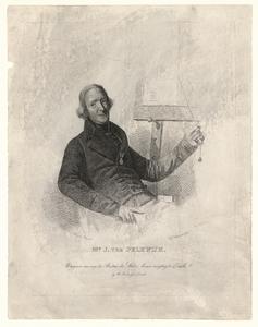 919 -TP000321 Portret van Jan ter Pelkwijk (1796-1834), onderwijzer, halffiguur naar rechts, zittend in een leunstoel, ...