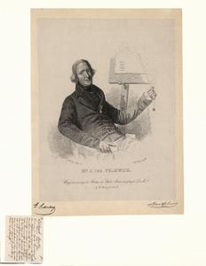 920 -TP000322 Portret van Jan ter Pelkwijk (1796-1834), onderwijzer; halffiguur naar rechts, zittend in een leunstoel, ...