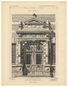 992 -TP000361 Detail van de hoofdingang van Villa van Reede te Zwolle., 1886