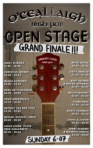 O'Ceallaigh : affiche Open Stage grand finale