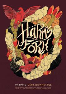 Harm's Fork : affiche optreden in Vera