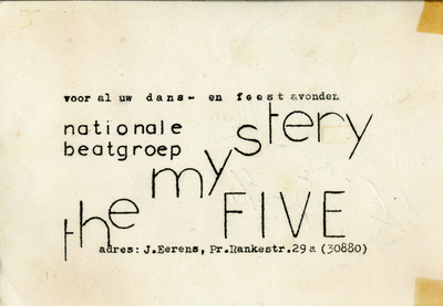 The Mystery Five : flyer