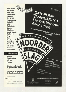 Omschrijving: Affiche Noorderslag 1993<br/> <br/>Dit affiche is opgenomen in de collectie van Poparchief Groningen onder nummer: 2410-22644