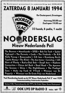 affiche Noorderslag 1994 <br/>Elzo Smid <br/>De Oosterpoort <br/>8 januari 1994 <br/>concertaffiche <br/>De Oosterpoort
