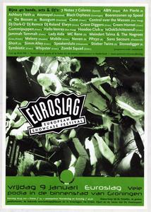 affiche Euroslag 1998 <br/>Elzo Smid <br/>Stichting Noorderslag <br/>9 januari 1998 <br/>concertaffiche <br/>De Oosterpoort