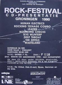 Act(naam): Rock-festival, Panama-records, Futuremusic, Stichting Pop, Huize Maas, Human Electrics, Rocking Teenage Combo, Leader, Bouncing Checks, Teye Wijnterp, Deep Throat, The Ziffels, Wasteland