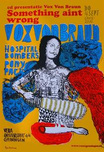 Beschrijving: CD-presentatie Vox Von Braun - Something Ain't Wrong in Vera. Support-acts: Hospital Bombers, Pony Pack <br/>Gemaakt door:Gijs Deddens <br/>Gelegenheid:CD-presentatie <br/>Bijzonderheden: