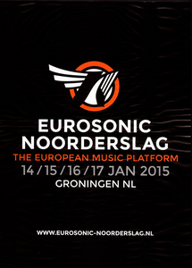 affiche Eurosonic Noorderslag 2015 <br/>Rocket Industries <br/>Eurosonic Noorderslag <br/>14-17 januari 2015 <br/>concertaffiche <br/>Stichting Noorderslag