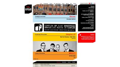 Voorpagina van de Simplon website met de mededeling dat Simplon failliet is.