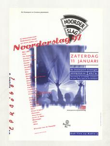 Beschrijving: Affiche Noorderslag 1997 Ontwerp: Ontwerpburo Elzo Smid plus Gelegenheid: Noorderslag Festival Datum: 11 januari 1997 Uit: collectie Poparchief Groningen, archiefnummer: 2410-22134