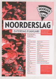 Beschrijving: Affiche Noorderslag 1999 Ontwerp: Elzo Smid Gelegenheid: Eurosonic Noorderslag Festival Datum: 9 januari 1999 Uit: collectie Poparchief Groningen, archiefnummer: 2720-0746