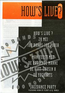 programmaboekje How's Live : voorpagina