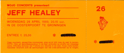 Concertkaart : Mojo Concerts presenteert Jeff Healey in De Oosterpoort