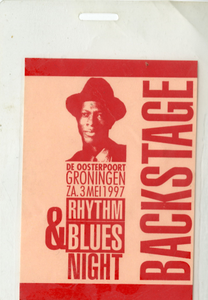 Backstagepas Rhythm & Blues Night in De Oosterpoort