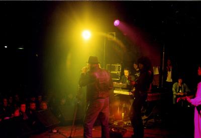 Springpop : optreden band Muskee Gang in De Molenberg Delfzijl