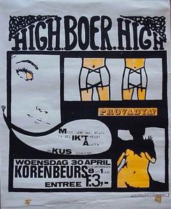 High Boer High :  affiche optreden in de Korenbeurs