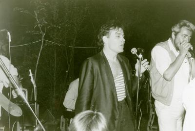 Act(naam): TBR Blues Band <br/>Beschrijving: Eddy Koekkoek (zang), Henk ter Veld (mondharmonica). <br/>Gelegenheid: openlucht optreden. <br/>Locatie: Blijham. <br/>Datum: 1980.