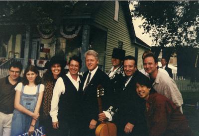 Teije Wijnterp, Joe Ely en president Bill Clinton