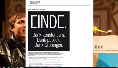 Grand Theatre : screenshot van de voorpagina website Grand Theatre