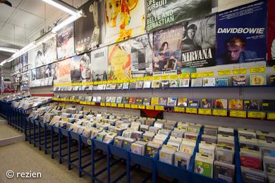 Elpee : interieur winkel met vinyl en CD's, Oosterstraat 24-1 in Groningen