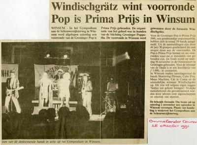 Pop=Prima Prijs : krantenartikel uit Ommelander Courant