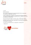 Brief van zorgcentrum Careyn Maria-Oord in Vinkeveen aan buurtbewoners