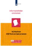 Informatiefolder coronatest van de Rijksoverheid en GGD Amsterdam