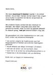 Aanplakbiljetten van slagerij Dalhuisen met maatregelen vanwege het coronavirus