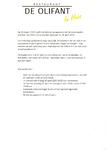 Menukaart voor afhaal- of thuisbezorgmenu van restaurant De Olifant te Breukelen