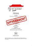 Weekendspecial Menukaart voor afhaal- of thuisbezorgmenu van restaurant De Olifant te Breukelen