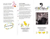 Paasmenukaart voor afhaal- of thuisbezorgmenu van restaurant De Olifant te Breukelen