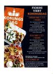 Koningsdagmenukaart voor afhaal- of thuisbezorgmenu van restaurant Fiorini Café te Maarssen