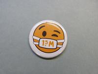 Button afkomstig van bloemist Bloemidee te Breukelen