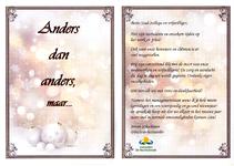 Kerstkaart voor medewerkers en vrijwilligers van Zorggroep De Vechtstreek