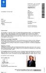 Begeleidende brief van de stempas voor de Tweede Kamer Verkiezingen van gemeente Stichtse Vecht