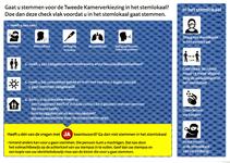 Folder met coronaregels voor de Tweede Kamer verkiezingen