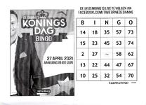 Koningsdagbingokaart van Taveerne De Danne
