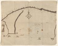 2; kaart van de kustlijn bij Muiden.