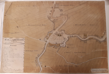 4; Kaart, plattegrond, van Weesp en omgeving