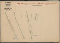 Derde suppletoirblad van kaart nr. II (2) van de Ligger der Wegen der gemeente Weesp