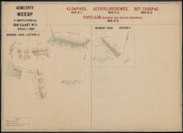 Vierde suppletoirblad van kaart nr. II (2) van de Ligger der Wegen der gemeente Weesp