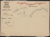 Vierde suppletoirblad van kaart nr. III (3) van de Ligger der Wegen der gemeente Weesp