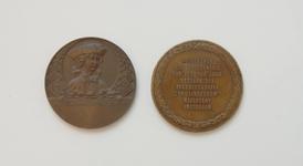 45 Penning van het 100 jarig bestaan van Biscuitfabriek De Lindeboom