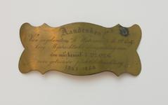 47 Een bronzen plaquette