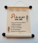 52 Oorkonde met gedicht ter gelegenheid van het 900 jarig bestaan van Abcoude