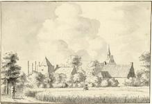 201825 Gezicht op het dorp Cothen met links een gedeelte van de woontoren van het kasteel Rhijnestein.